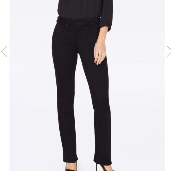 NYDJ Denim - NYDJ Marilyn 18W Black Straight Leg Jeans